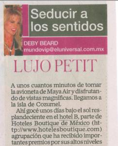 El Universal Mundo VIP Lujo Petite Hotel B Cozumel Cozumel