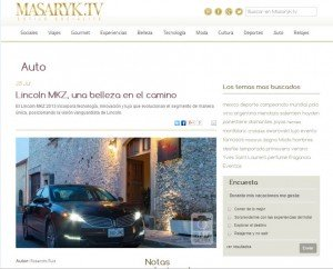 Lincoln MKZ, una belleza en el camino - Masarik.tv