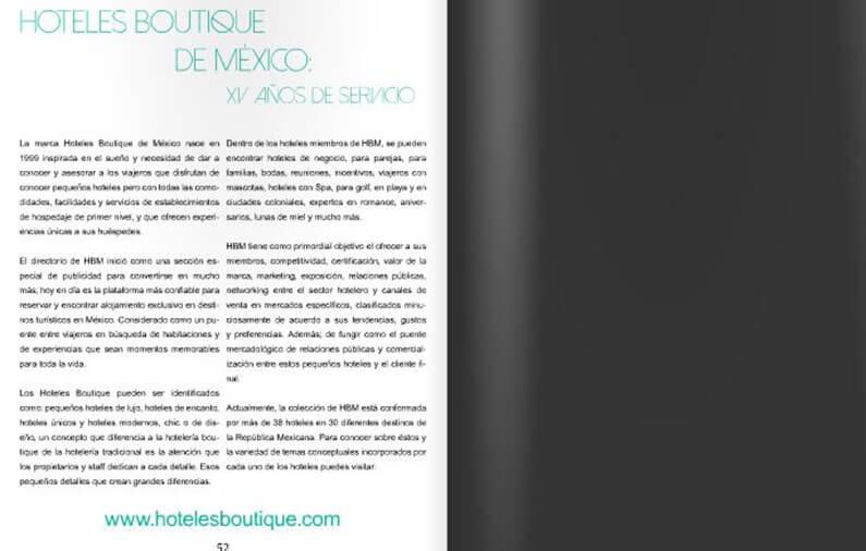 Hoteles Boutique de México XV años de servicio