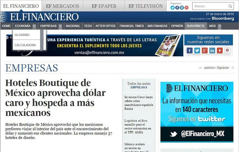 Hoteles Boutique de México aprovecha dólar caro y hospeda a más mexicanos