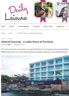 Hotel B Cozumel… A Little Piece of Paradise