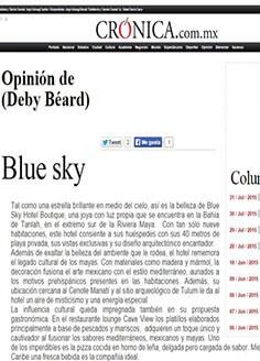Blue sky / Opinión de Deby Beard