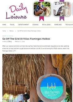 Go Off The Grid At Villas Flamingos Holbox