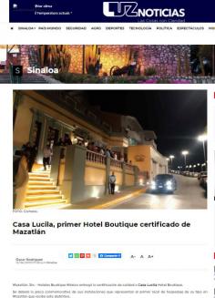 Casa Lucila, primer Hotel Boutique Certificado en Mazatlán