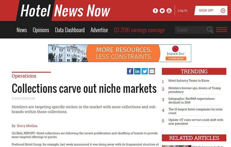 Collections carve out niche markets