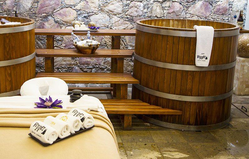 Baños de cerveza lo más novedoso que ofrece Casa Diamante