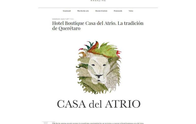 Hotel Boutique Casa del Atrio. La tradición de Querétaro