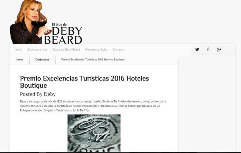 Premio Excelencias Turísticas 2016 Hoteles Boutique