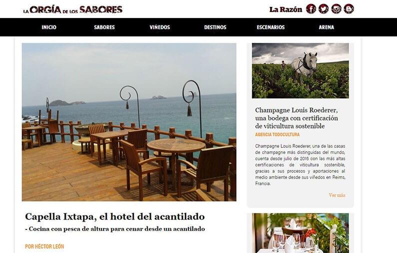 Capella Ixtapa, el hotel del acantilado