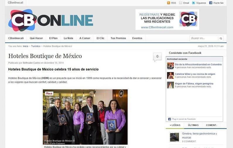 Hoteles Boutique de México celebra 15 años de servicio