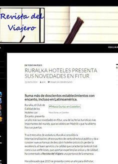 RURALKA HOTELES PRESENTA SUS NOVEDADES EN FITUR