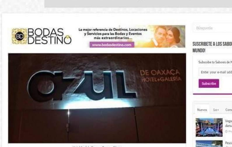 Hotel Azul de Oaxaca, el espacio chic y contemporáneo de la Ciudad de Oaxaca