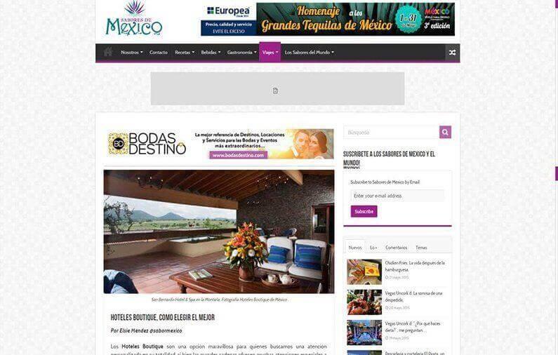 Hoteles boutique, como elegir el mejor / Sabores de México