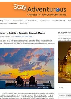 Sunset Sunday – Just Be at Sunset Cozumel, Mexico