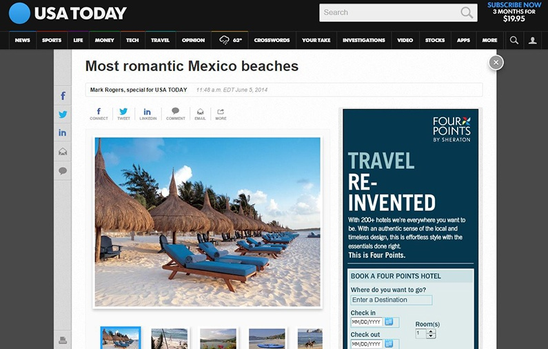 Most romantic Mexico beaches / USA Today