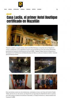 Casa Lucila, el primer Hotel Boutique certificado en Mazatlán