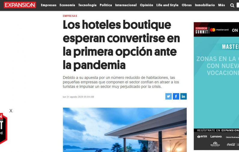 Los hoteles boutique esperan convertirse en la primera opción ante la pandemia