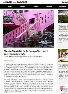 Mesón Sacristía de la Compañía: hotel, gastronomía y arte
