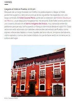 42 HORAS EN LA CIUDAD DE PUEBLA