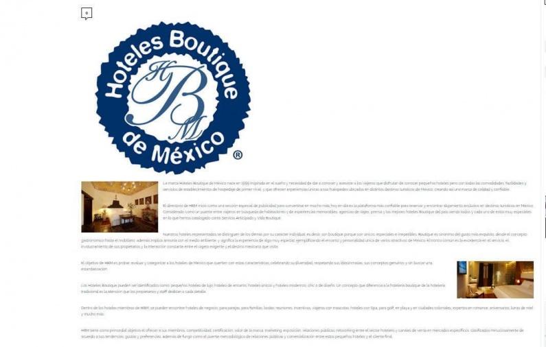 Hoteles boutique celebra xv años/ Saborearte