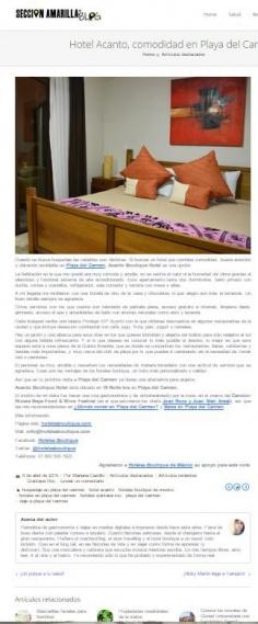 Hotel Acanto, comodidad en Playa del Carmen
