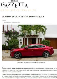 DE VISITA EN CASA DE MITA EN UN MAZDA 6