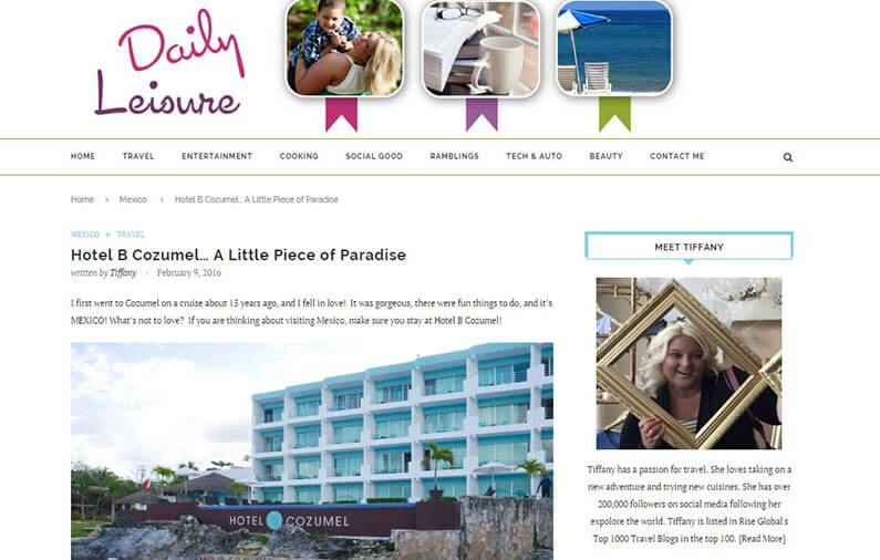 Hotel B Cozumel… A Little Piece of Paradise
