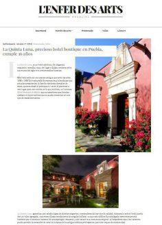 La Quinta Luna, precioso hotel boutique en Puebla, cumple 16 años