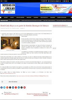 Hotel Cielo Rojo ya es parte de Hoteles Boutique de México
