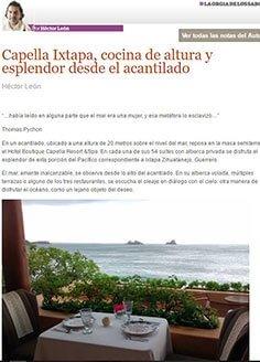 Capella Ixtapa, cocina de altura y esplendor desde el acantilado