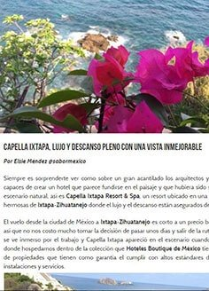 Capella Ixtapa, lujo y descanso pleno con una vista inmejorable