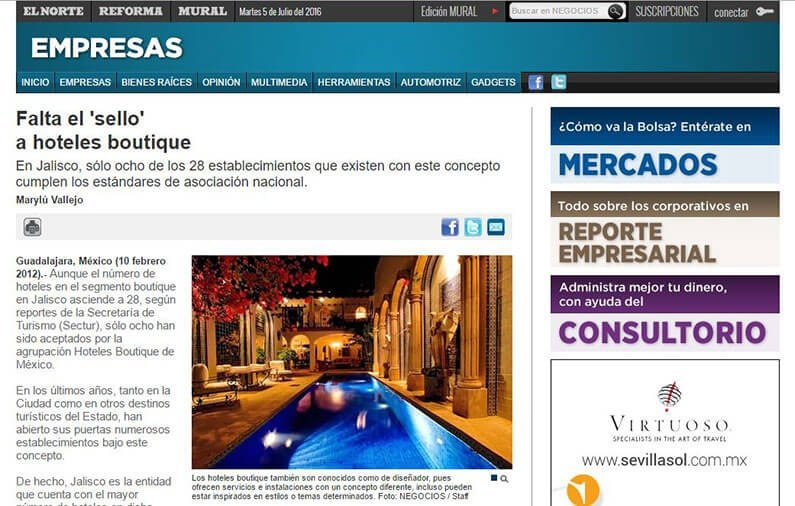 Falta el 'sello'  a hoteles boutique