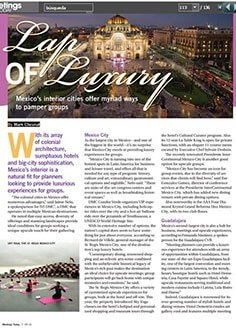 Lap of luxury – Mexico´s interior cities offer myriad ways to pamper groups
