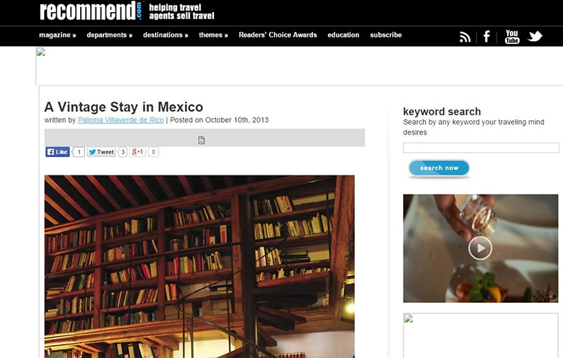 A Vintage Stay in México