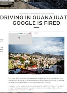 Driving in Guanajuato: Google is Fired