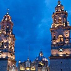 Recorriendo el centro histórico de Morelia