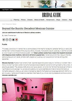 Beyond the Burrito: Decadent Mexican Cuisine