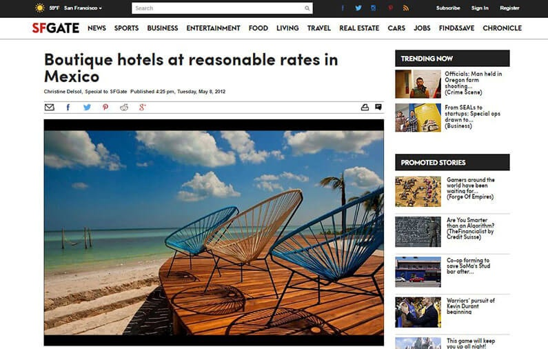 Boutique hotels at reasonable rates in Mexico